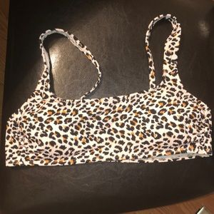 Cheetah BathingSuit Top